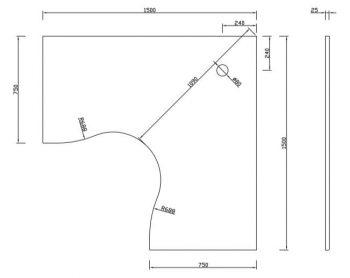 Desk top sizes dimensions