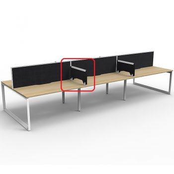 Desk dividers, black