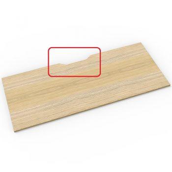 Natural oak desk top