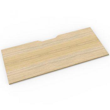 Natural Oak Scalloped Desk Top