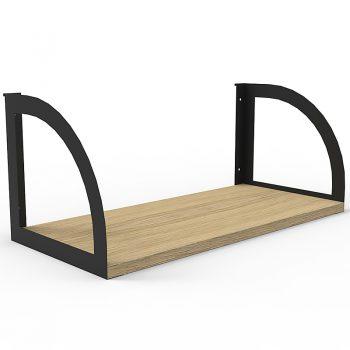 Screen Mounted Shelf, Natural Oak with Black Brackets
