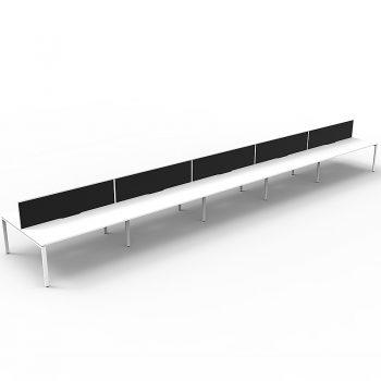 black and white straight desks