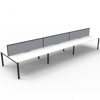 white and grey desks