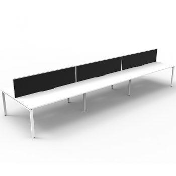 6 black and white desk pod
