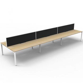 eight straight desk pod