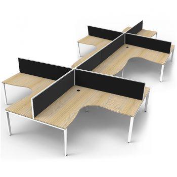 eight corner desks group