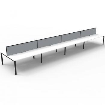 eight straight desks