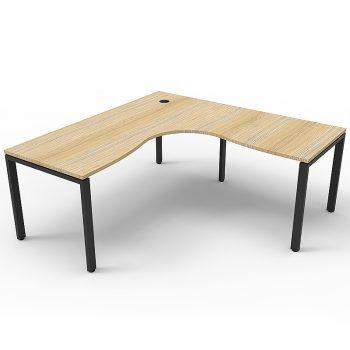 Timber corner desk