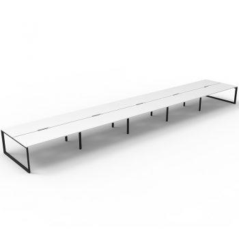 10 desk group, no desk dividers