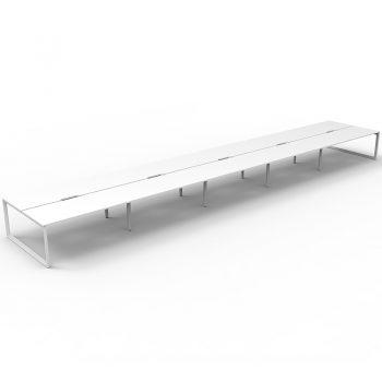 Ten white desks