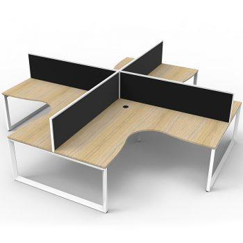 4 oak corner desks