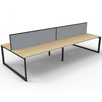 4 anvil desks with divider