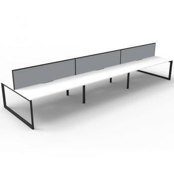 Anvil desks with divider