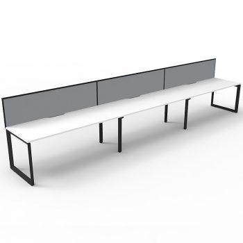white and black attaced anvil desks