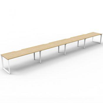 Long wooden desk
