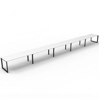 long white and black desk