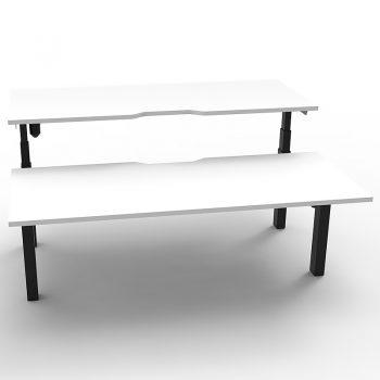 2 electric sit stand desks