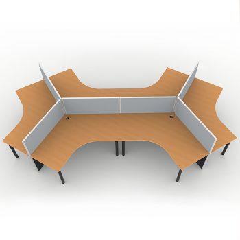 120 degree desk pod