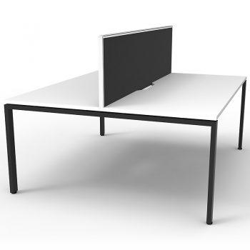 White and black desks
