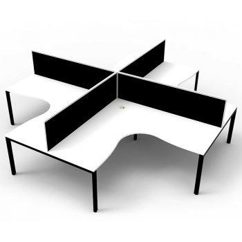 Black and white desks