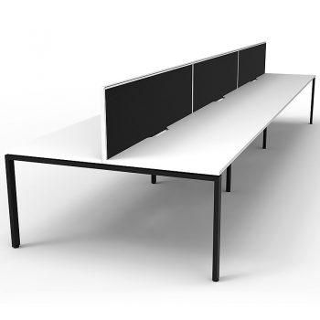 6 desks back to back