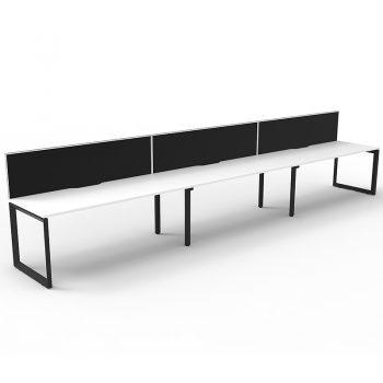 3 straight desks