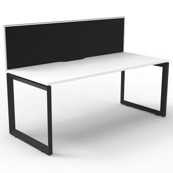 White desk with screen
