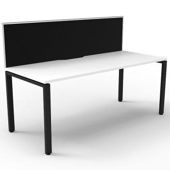 Desk with divider