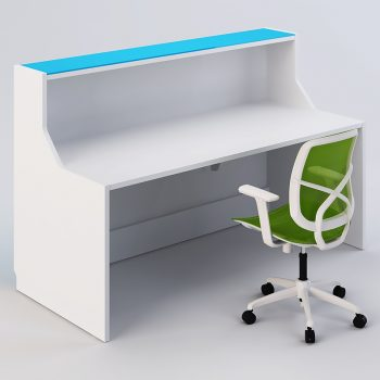 Vitric Reception Desk, Inside View