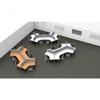 Smart 120 Degree Desk Pods, Grey Screen Dividers