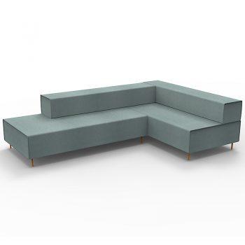 Blue L Shape Lounge