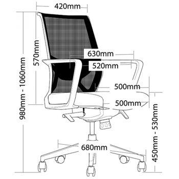 Riley Chair, Dimensions