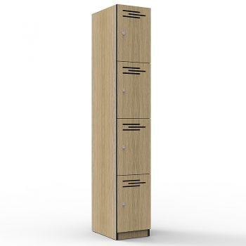 Natural Oak 4 door locker