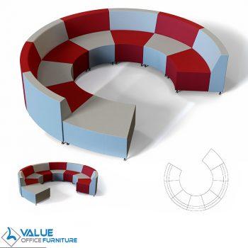 round custom seating