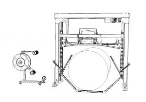 VKE-F2G Masina de legat