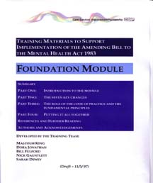 Training Manual Mental Health Act