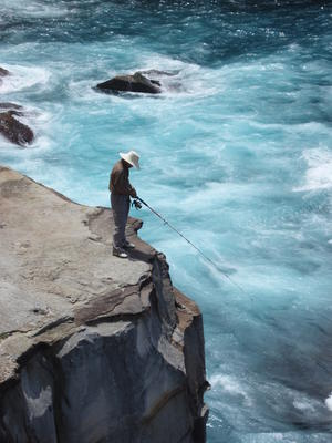 Image result for fishing from a cliff