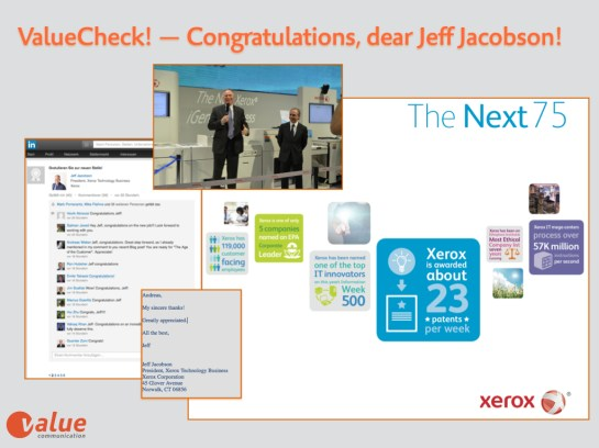 Value Check Xerox Jeff Jacobson 2014.001