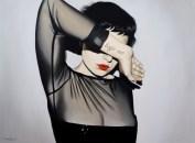 Anna Grau: Lilith.3 (God doesn't exist), Öl/Leinwand, 160x100 cm