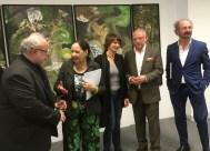 Zufriedene Organisatoren: v.l. Michael Horaczek, Valy, Susanne Mull, Andreas Weber, Dietmar Gross. Foto: Gunda Vera Schwarz