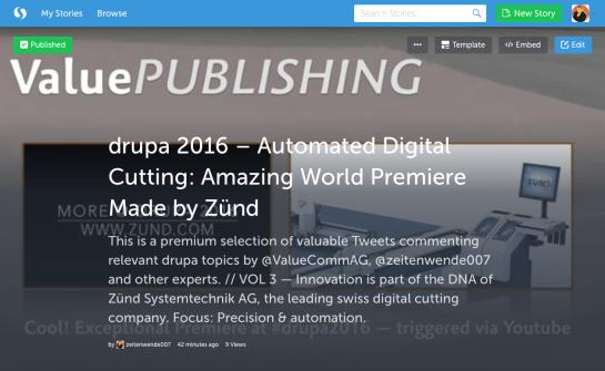 drupa2016 ZundCutter Storify