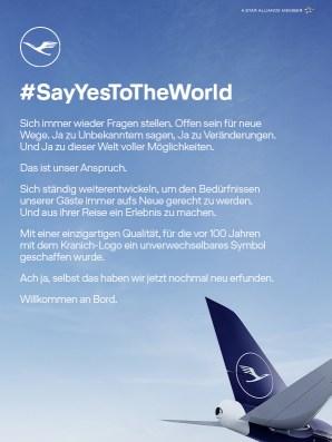 Lufthansa Manifest – Anzeigenmotiv