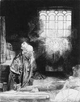 """""""Faust"""" — Radierung von Rembrandt:"""