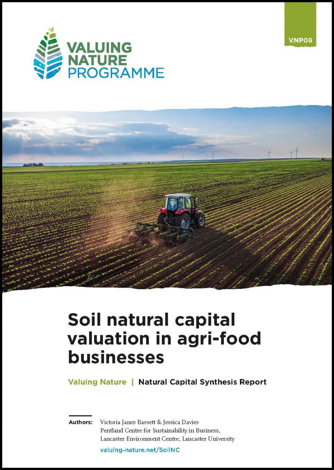hight resolution of soil natural capital valuation needs for agri food businesses