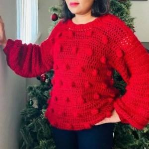 handmade red sweater