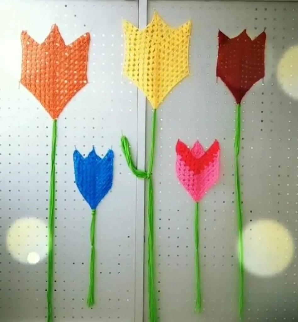 Yarn Bomb Tulip