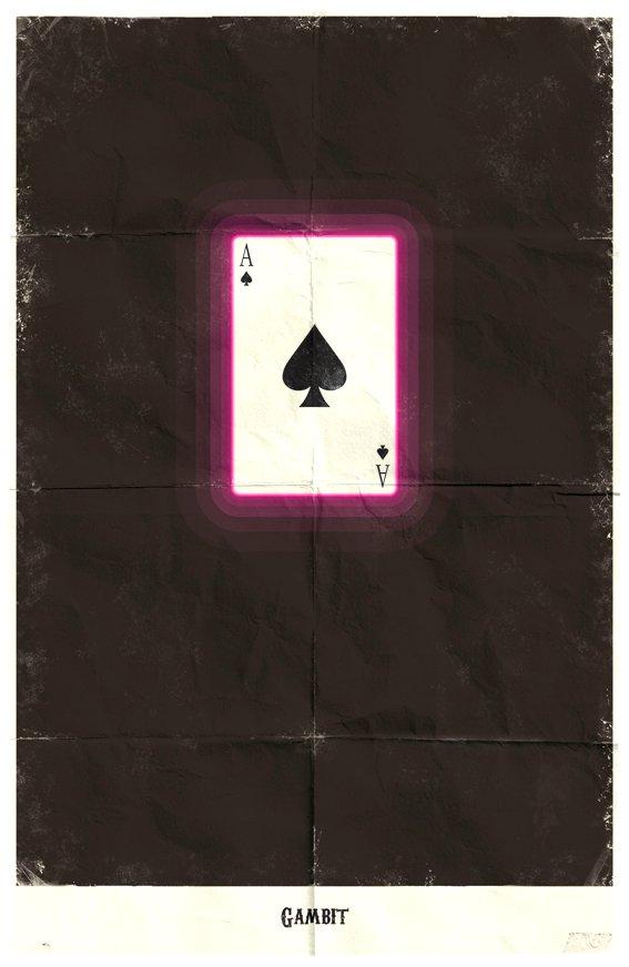 Vamers - Marko Manev - Minimalist Marvel Posters - Gambit