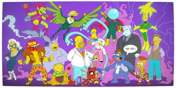 Vamers - Artistry - Spider-Man Villians and The Simpsons [Mashup]