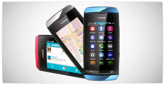 Vamers - Win With Vamers - Nokia Asha 306 - Trio (Red-Silver-Blue)