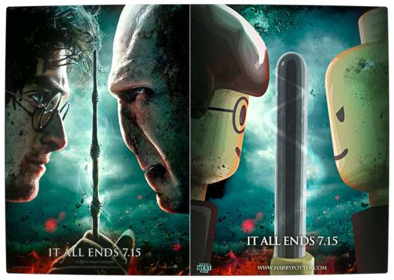 Vamers - Fandom - Movie Lego Posters - Harry Potter and the Deathly Hallows